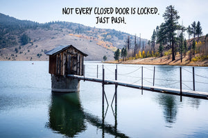 Not Every Closed Door Is Locked Inspirational Art