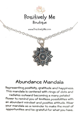 Abundance Mandala Sterling Silver Necklace