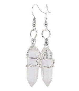 Healing Crystal Point Earrings