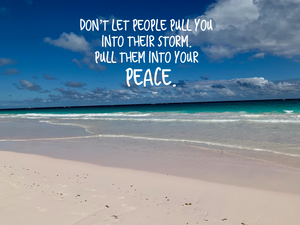 Pull Them Into Your Peace Inspirational Art
