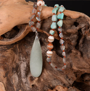Amazonite Boho Necklace