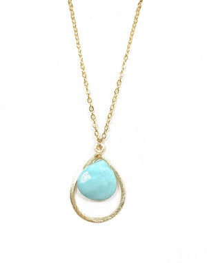Amazonite Tear Drop Pendant