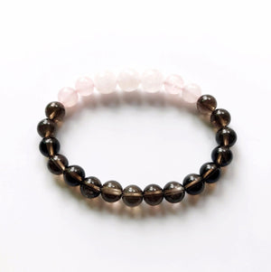 Rose Quartz and Smoky Quartz Bracelet