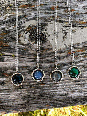 Framed Gemstone Necklace