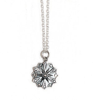 Courage Mandala Sterling Silver Necklace