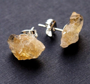 Citrine Crystal Stud Earrings