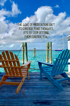 Goal of Meditation Inspirational Art