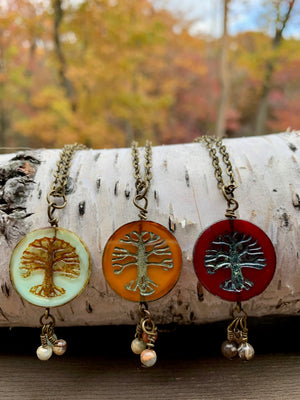 Tree of Life Jasper Necklace