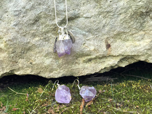 Amethyst Crystal Charm Necklace