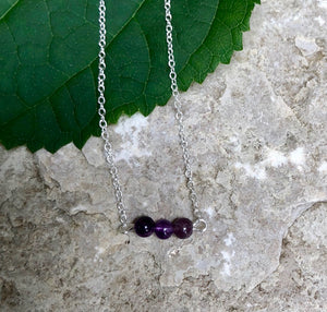 Minimalist Gemstone Necklace