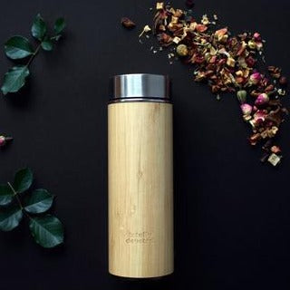 Totally Devoted Bamboo tea flask