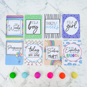 Rainbow Baby Pregnancy Milestone Cards