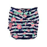 Floral Stripes Cloth Nappy