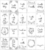 Baby Floral Doodle Milestone Cards
