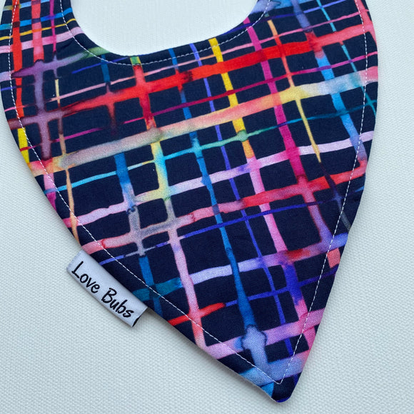 Watercolor Lines Dribble Bib
