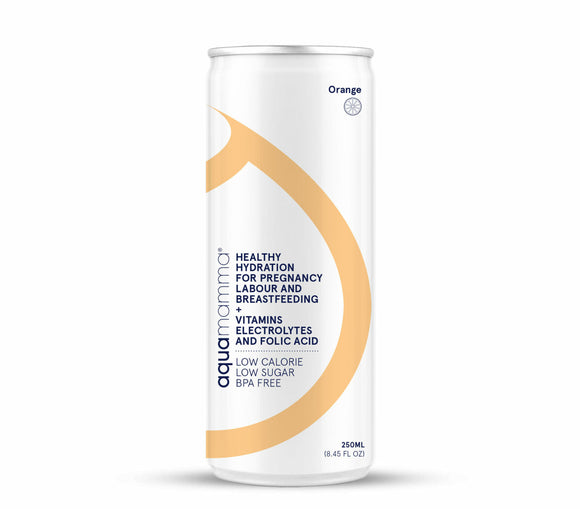 Aquamamma® Ready-to-drink Hydration Cans - Orange
