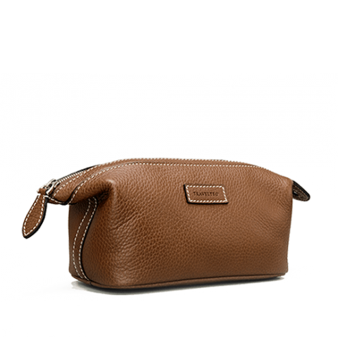 Travel Wash Bag Soft Leather