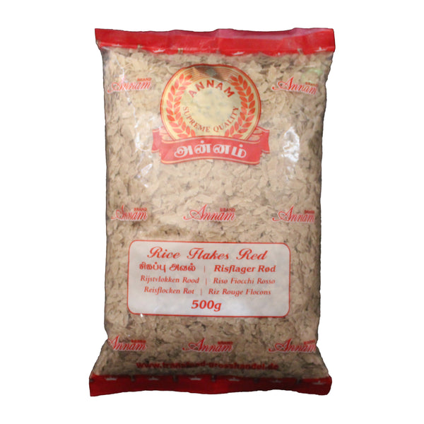 Annam Rice Flakes Red/Risflager rød - 500g