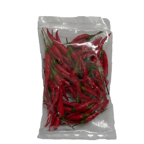 Red Birds Eye Chilli - Approx. 100g (Sivappu Milagai, பழமிளகாய்)