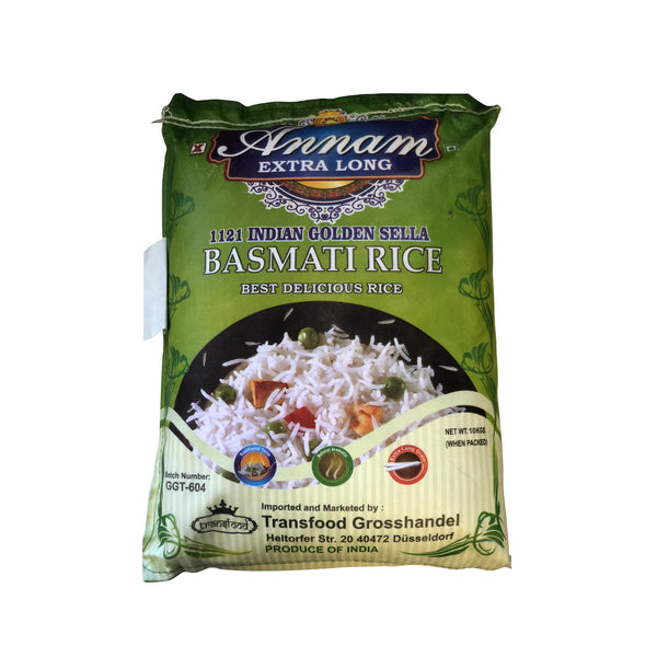 Annam Golden sella Basmati Rice - 10 kg