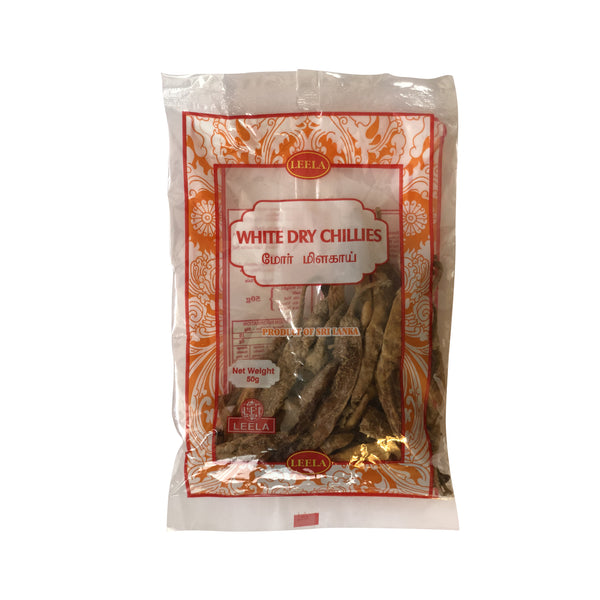 Leela White Dry Chillies - 50g