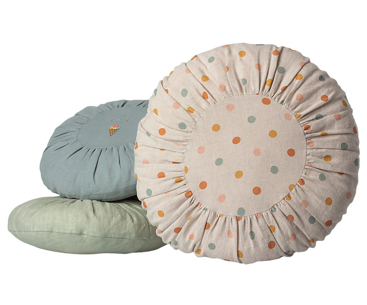 CUSHION, LARGE ROUND - Multi dots (Pre-order for May)