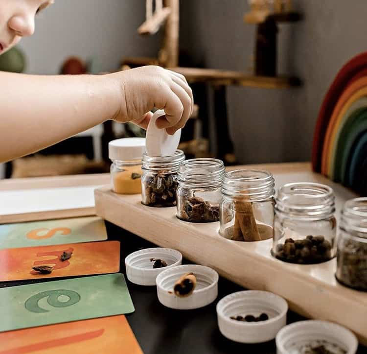 The Play Atelier wooden paint holder and pots