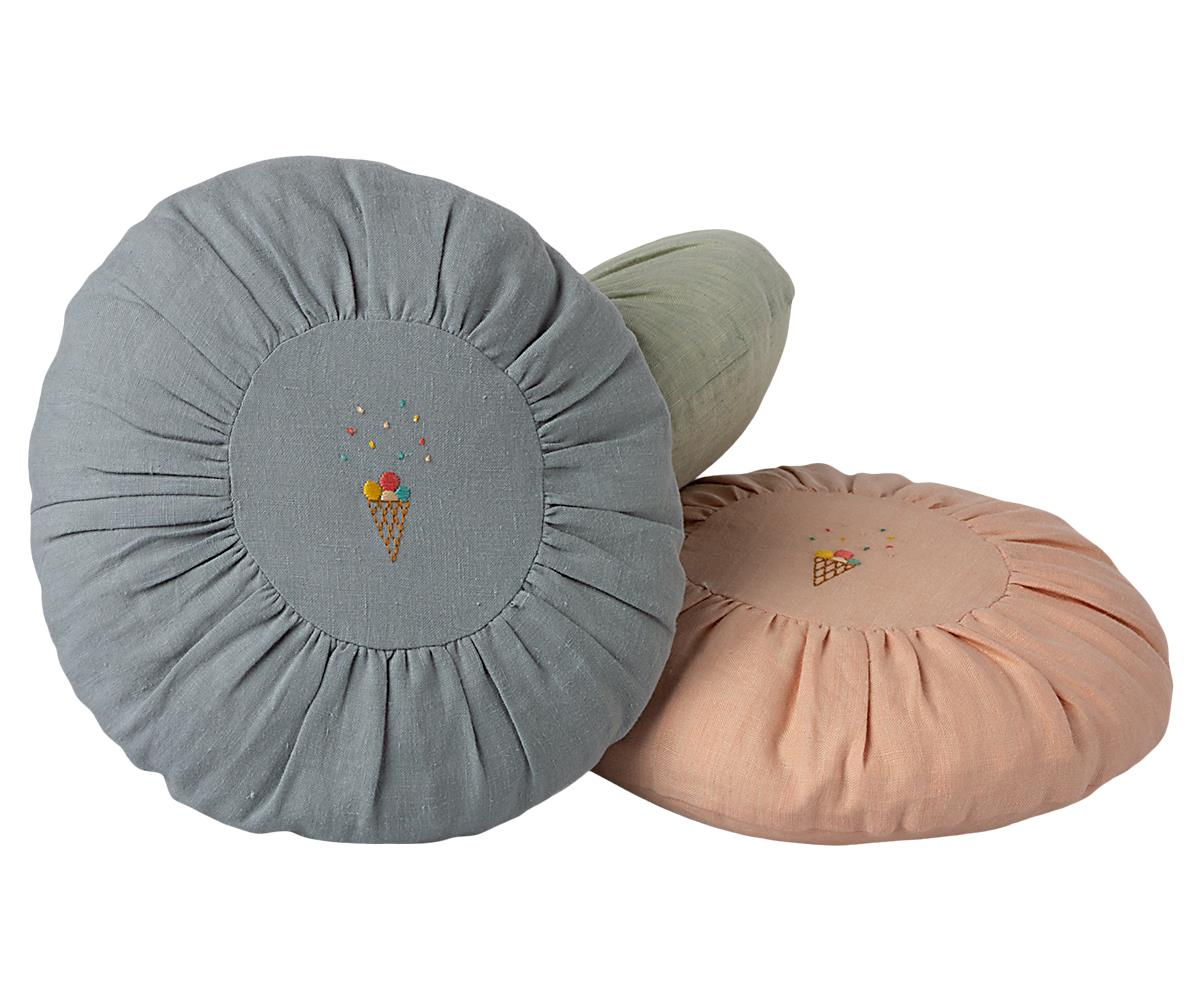 CUSHION, ROUND - BLUE (Pre-order for May)