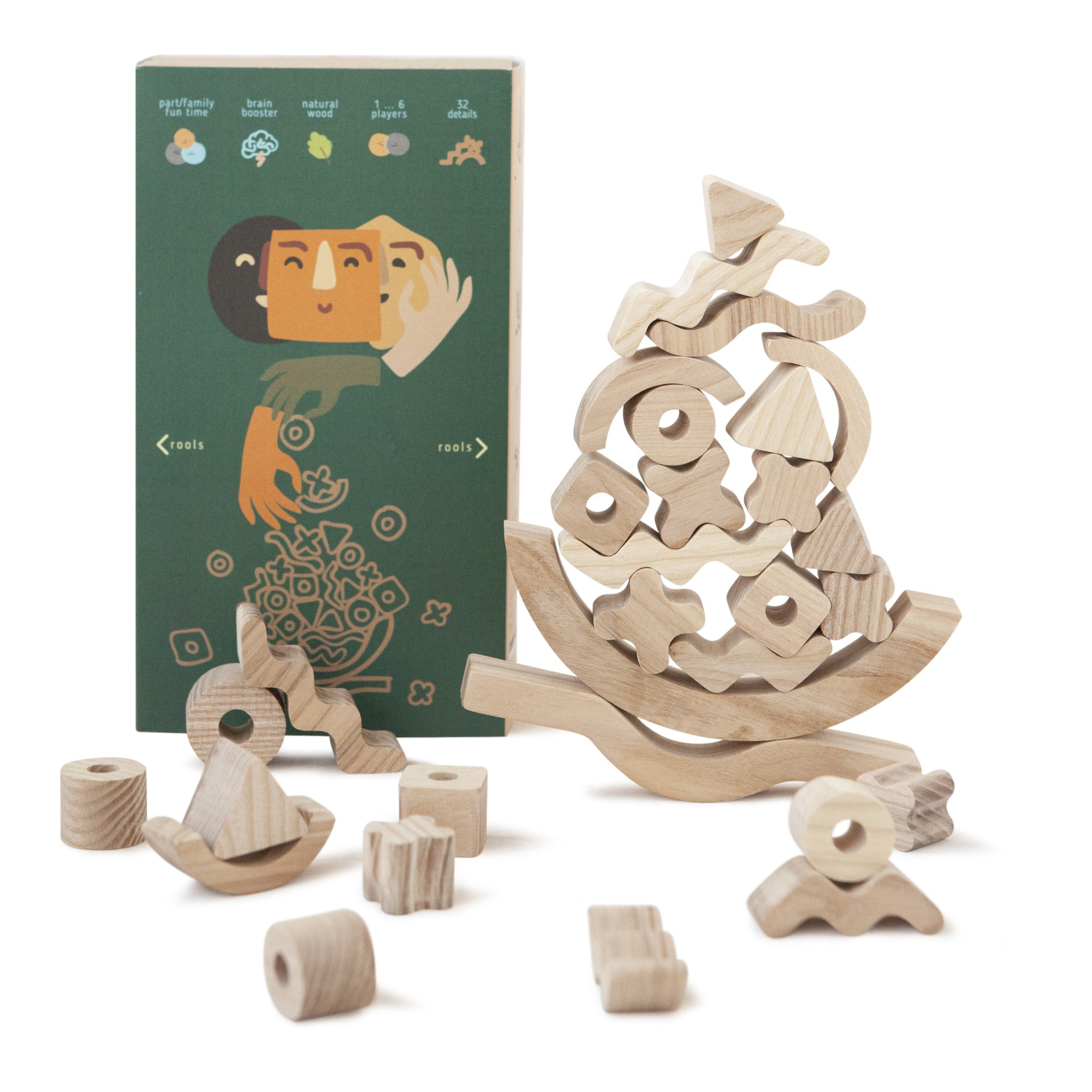 Babai Wooden Balance Game Natural