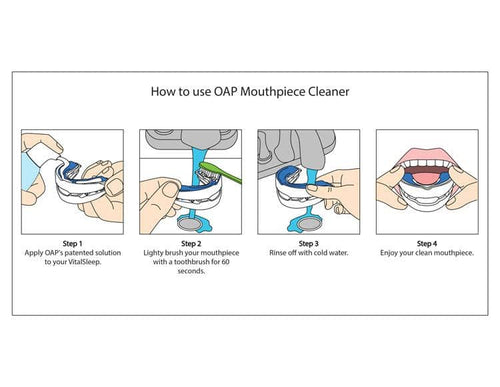 instruction on cleaning a mouthguard