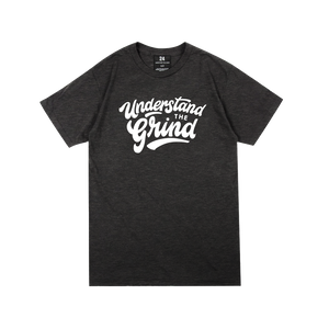 UTG Vintage Script Tee - Charcoal Heather