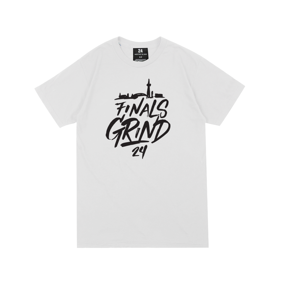 Finals Grind Handwritten Tee - White