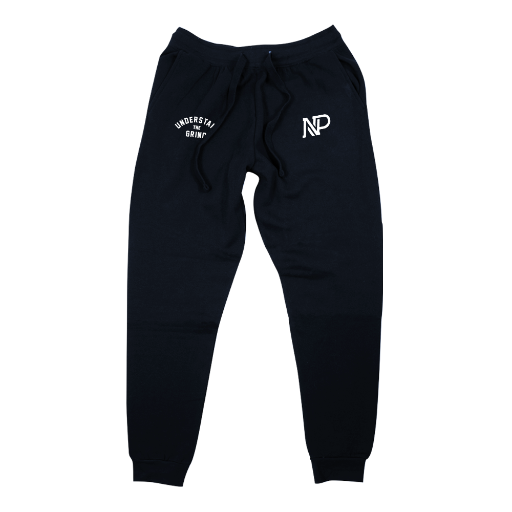 Premium Double Embroidered Men's Sweat Suit Jogger - Navy