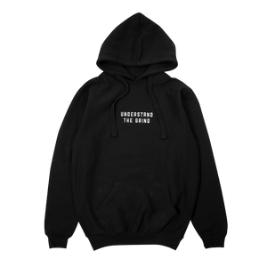 Understand the Grind Men's Embroidered Pullover Hoodie - Black