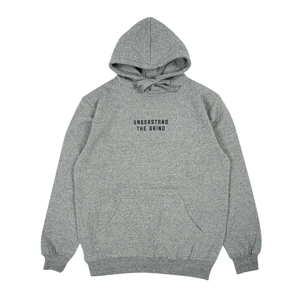 Understand the Grind Men's Embroidered Pullover Hoodie - Heather Grey