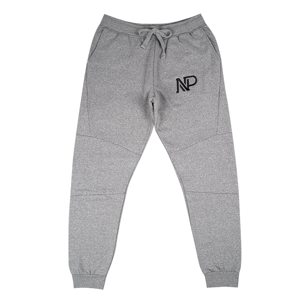 NP Embroidered Men's Panelled Jogger - Graphite Heather