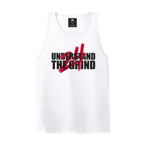 Understand the Grind 24 Men's Tank - White