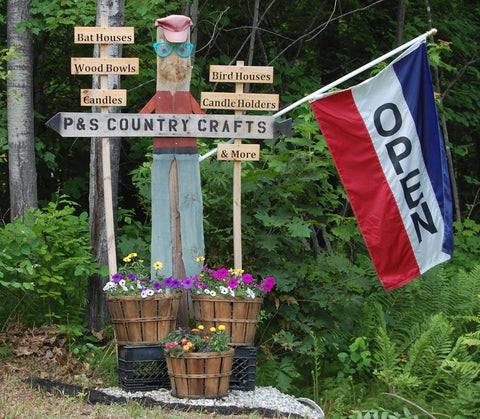 P&S Country Crafts signs