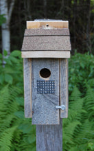 Load image into Gallery viewer, Barn Board Warbler Bird House - Limited Edition
