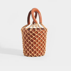 STAUD Moreau Macrame and Leather Bag