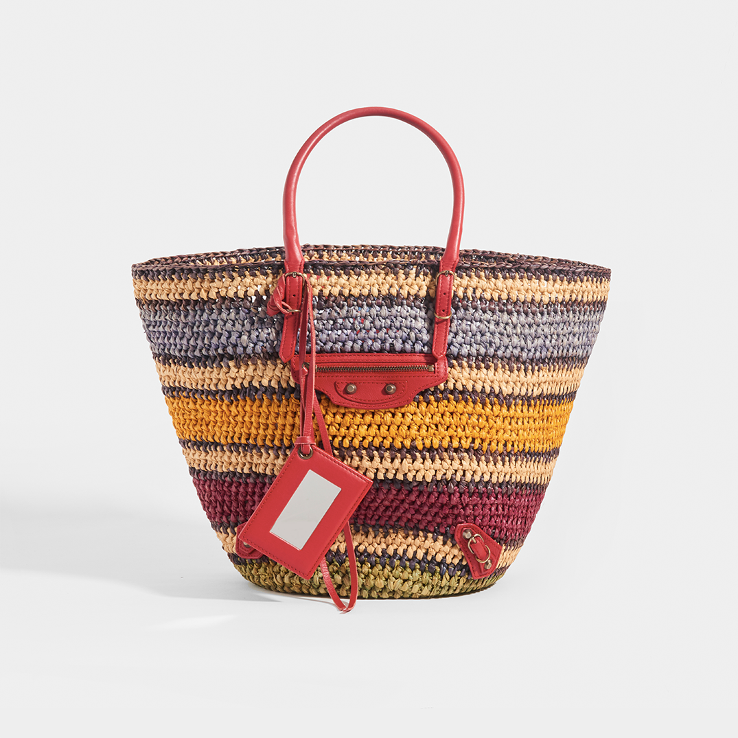 Image of BALENCIAGA Vintage City Rainbow Basket Bag