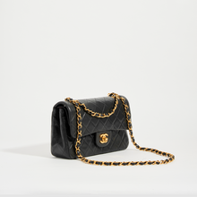 Load image into Gallery viewer, CHANEL Vintage Small Classic Double Flap Bag in Black Leather
