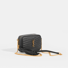 Load image into Gallery viewer, SAINT LAURENT Lou Small Quilted Crossbody in Black Leather
