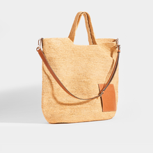 Load image into Gallery viewer, LOEWE Slit Large Raffia Tote in Tan