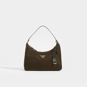 PRADA Re-Eddition Hobo Bag in Camo Green