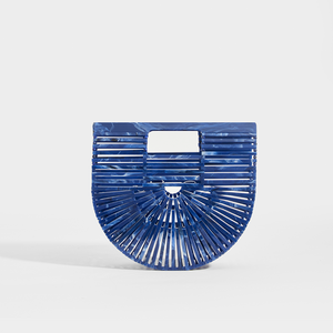 CULT GAIA Ark Clutch in Royal Blue Acrylic