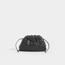 Load image into Gallery viewer, BOTTEGA VENETA The Pouch 20 Intrecciato Crossbody in Black Leather