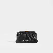 Load image into Gallery viewer, BALENCIAGA Cloud Small Printed Pouch with Strap in Black Leather
