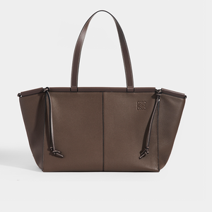 LOEWE Cushion Tote Bag in Grey Textured Leather