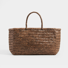Load image into Gallery viewer, DRAGON DIFFUSION Triple Jump Large Woven-Leather Tote in Light Brown